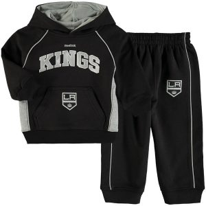 Infant Los Angeles Kings Reebok Black Classic Fan Arch & Logo Fleece Hoodie and Pant Set