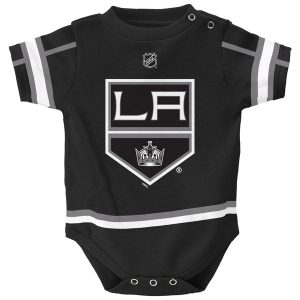Infant Los Angeles Kings Reebok Black Hockey Jersey Bodysuit