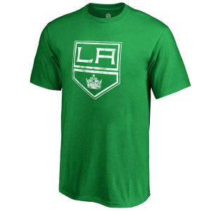 Los Angeles Kings Fanatics Branded Youth St. Patrick's Day White Logo T-Shirt