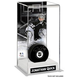 Los Angeles Kings Jonathan Quick Fanatics Authentic Deluxe Tall Hockey Puck Case