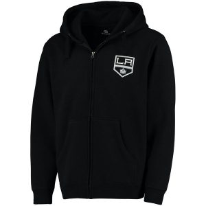 Men's Los Angeles Kings Fanatics Branded Black Lefty Full-Zip Hoodie