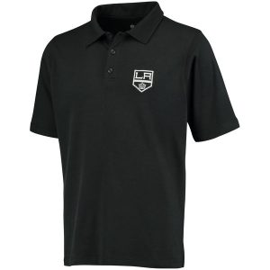 Men's Los Angeles Kings Fanatics Branded Black Primary Embroidered Polo