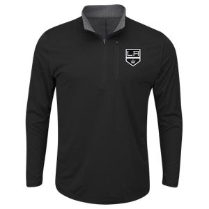 Men's Los Angeles Kings Majestic Black Good Work Half-Zip Pullover Jacket