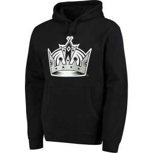 Men's Los Angeles Kings Mitchell & Ness Black Team History Tailor Fit Pullover Hoodie