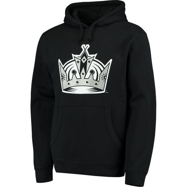 531e28754f0 Men s Los Angeles Kings Mitchell   Ness Black Team History Tailor Fit  Pullover Hoodie
