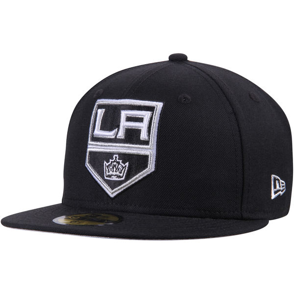 32497eaa9e9 Men s Los Angeles Kings New Era Black Team Color 59FIFTY Fitted Hat ...