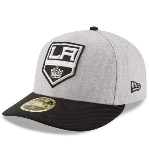Men's Los Angeles Kings New Era Heathered Gray Fitted Hat