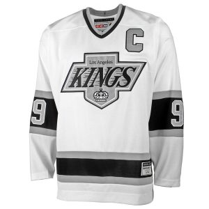 Mens Los Angeles Kings Wayne Gretzky CCM White Heroes of Hockey Alumni Jersey