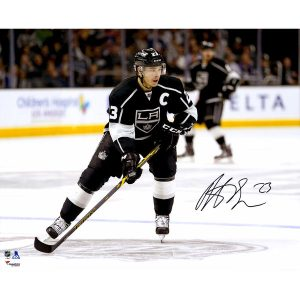 Dustin Brown Los Angeles Kings Fanatics Authentic Autographed 16″ x 20″ Black Jersey Skating Photograph