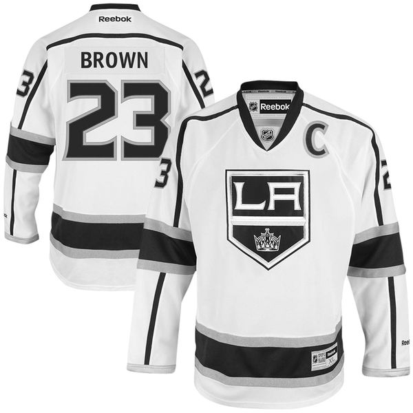 new style 2dbde d1b94 Dustin Brown Los Angeles Kings Reebok Away Premier Jersey - White