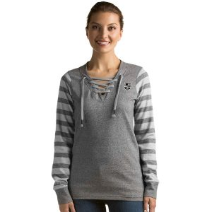 Los Angeles Kings Antigua Rumble Lace-Up Crew Sweatshirt – Black
