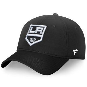 Los Angeles Kings Fanatics Branded Elevated Core Fundamental Adjustable Hat – Black