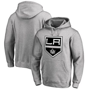 Los Angeles Kings Fanatics Branded Primary Logo Pullover Hoodie – Gray