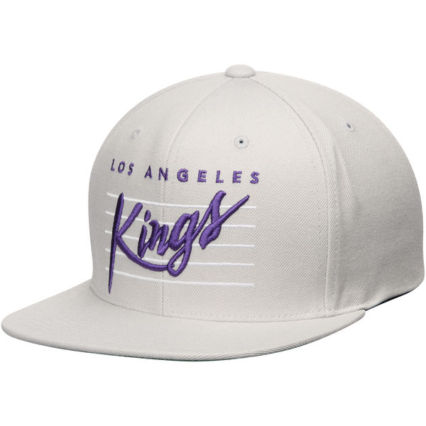 online store 714d5 40cb0 Los Angeles Kings Mitchell & Ness Vintage Cursive Retro ...