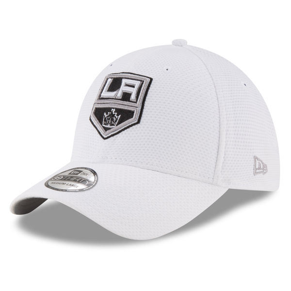 Los Angeles Kings New Era Tone Tech Redux 39THIRTY Flex Hat – White ... 01bffc8f2