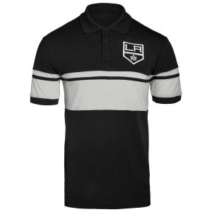 Los Angeles Kings Stripe Polo – Black