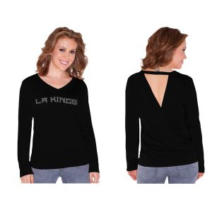 Los Angeles Kings Touch by Alyssa Milano Women's Lana V-Neck Sweatshirt – Black
