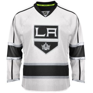Reebok Los Angeles Kings EDGE Authentic Custom Road Jersey – White