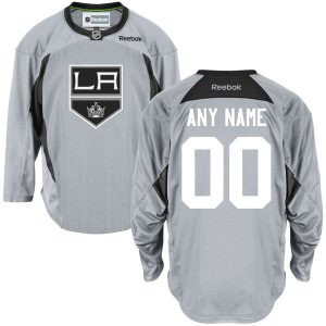 Reebok Los Angeles Kings Men's Practice Team Custom Jersey – Gray