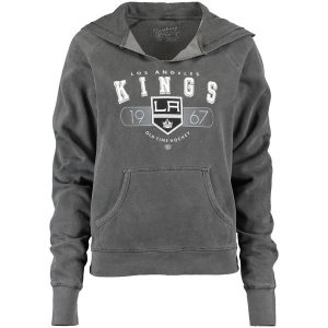 Los Angeles Kings Old Time Hockey Women's Hallsey Pullover Hoodie – Black