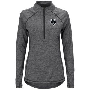 Los Angeles Kings Majestic Women's Improvise Half-Zip Pullover Jacket – Black